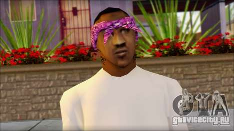 East Side Ballas Skin 1 для GTA San Andreas третий скриншот