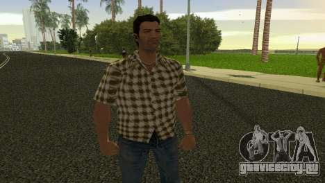 Kockas polo - citrom sarga T-Shirt для GTA Vice City