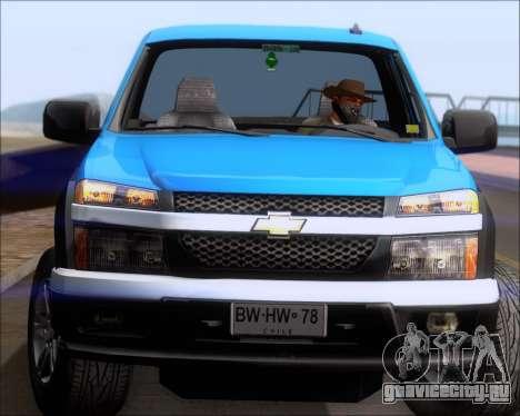 Chevrolet Colorado для GTA San Andreas вид снизу