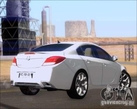Opel Insignia OPC для GTA San Andreas вид справа
