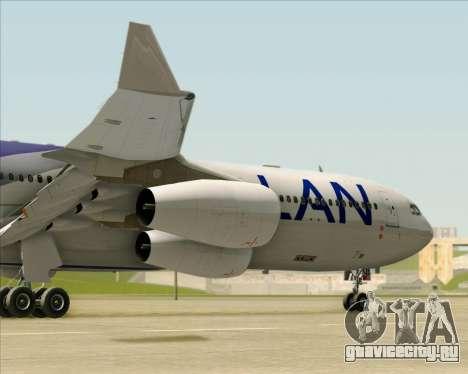 Airbus A340-313 LAN Airlines для GTA San Andreas вид сверху