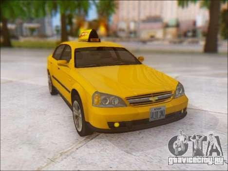 Chevrolet Evanda Taxi для GTA San Andreas вид сбоку