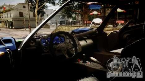 Pagani Zonda Tricolore для GTA 4 вид справа