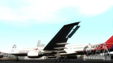 Boeing 777-280ER Asiana Airlines для GTA San Andreas вид сбоку