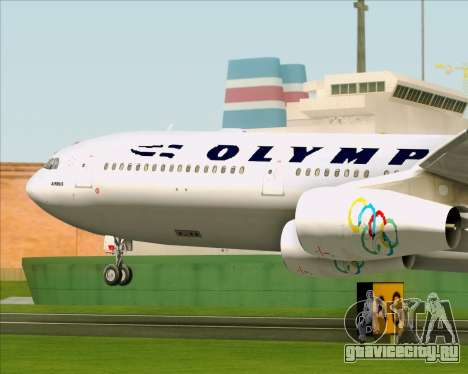 Airbus A340-313 Olympic Airlines для GTA San Andreas вид сбоку