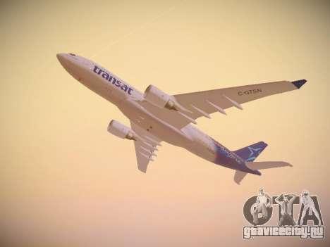 Airbus A330-200 Air Transat для GTA San Andreas вид сбоку
