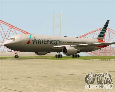 Boeing 767-323ER American Airlines для GTA San Andreas вид справа