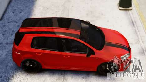 Volkswagen Golf R 2010 Racing Stripes Paintjob для GTA 4 вид сзади слева