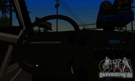 ВАЗ 2114 ДПС для GTA San Andreas вид сзади слева
