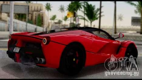 Ferrari LaFerrari 2014 (IVF) для GTA San Andreas вид слева