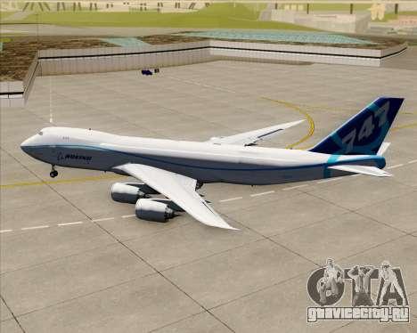 Boeing 747-8 Cargo House Livery для GTA San Andreas вид сзади