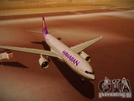 Airbus A330-200 Hawaiian Airlines для GTA San Andreas вид сбоку