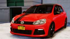 Volkswagen Golf R 2010 Racing Stripes Paintjob для GTA 4