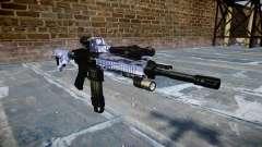 Автоматический карабин Colt M4A1 blue tiger для GTA 4