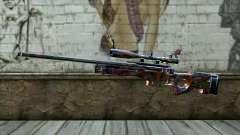 Graffiti Sniper Rifle для GTA San Andreas