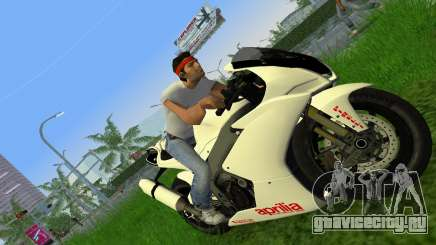 Aprilia RSV4 2009 White Edition II для GTA Vice City