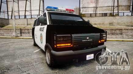 Declasse Burrito Police Transporter ROTORS [ELS] для GTA 4
