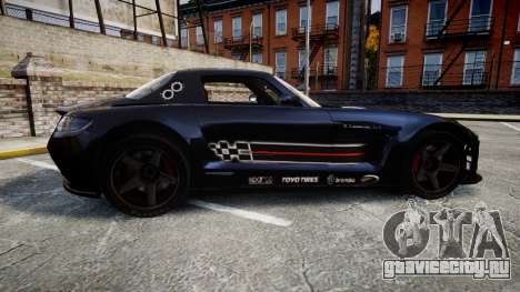 Mercedes-Benz SLS AMG GT-3 high для GTA 4 вид слева