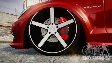 Mercedes-Benz CLS 63 AMG Vossen для GTA 4 вид сзади