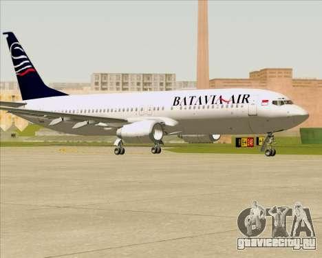 Boeing 737-800 Batavia Air для GTA San Andreas вид сзади слева