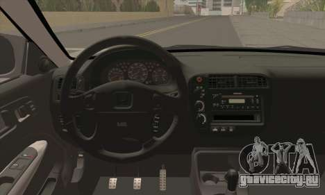 Honda Civic Si Coupe для GTA San Andreas вид сзади слева