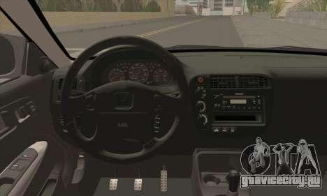 Honda Civic Si Coupe для GTA San Andreas вид сзади слева