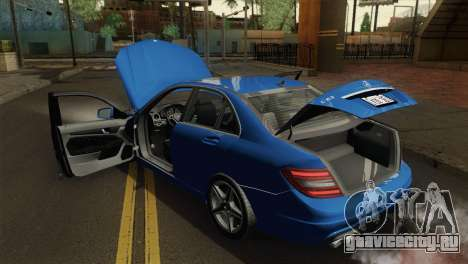 Mercedes-Benz C63 AMG Sedan 2012 для GTA San Andreas вид сзади