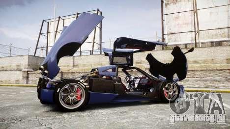 Pagani Huayra 2013 [RIV] для GTA 4 вид сбоку