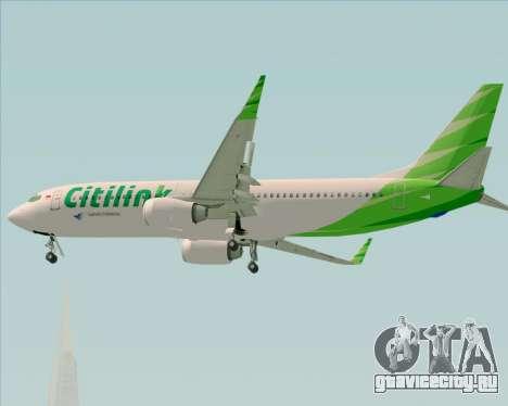 Boeing 737-800 Citilink для GTA San Andreas вид сверху
