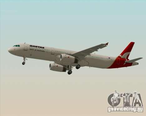 Airbus A321-200 Qantas для GTA San Andreas вид сзади слева
