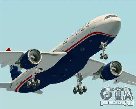 Airbus A330-200 US Airways для GTA San Andreas салон