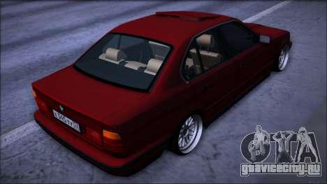 BMW 525i E34 для GTA San Andreas вид справа