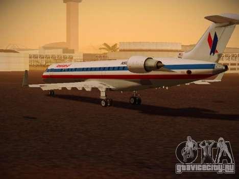 Bombardier CRJ-700 American Eagle для GTA San Andreas вид справа