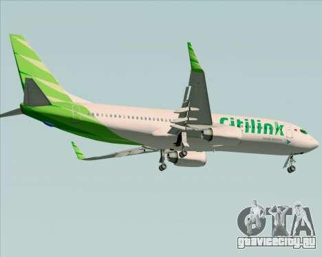 Boeing 737-800 Citilink для GTA San Andreas вид изнутри