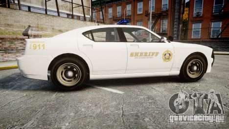GTA V Bravado Buffalo LS Sheriff White [ELS] для GTA 4 вид слева