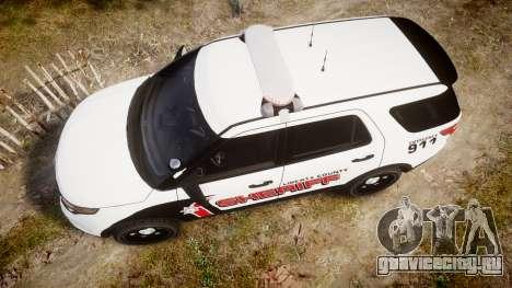 Ford Explorer 2013 LC Sheriff [ELS] для GTA 4 вид справа