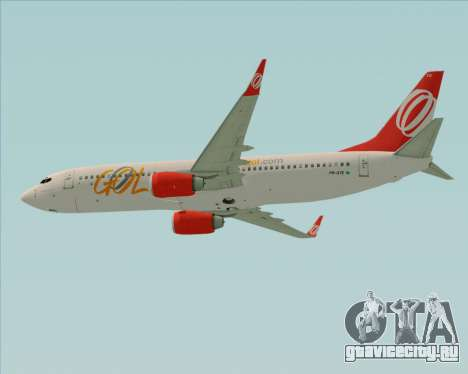 Boeing 737-800 Gol Transportes Aéreos для GTA San Andreas вид сзади слева