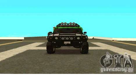 Hummer H2 Ratchet Transformers 4 для GTA San Andreas вид сзади