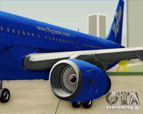 Airbus A321-200 Zoom Airlines для GTA San Andreas двигатель