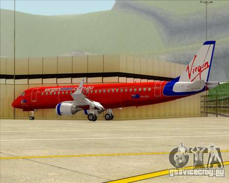 Embraer E-190 Virgin Blue для GTA San Andreas вид изнутри