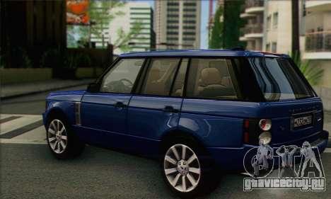 Range Rover Supercharged для GTA San Andreas вид слева