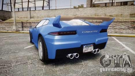 GTA V Invetero Coquette для GTA 4 вид сзади слева