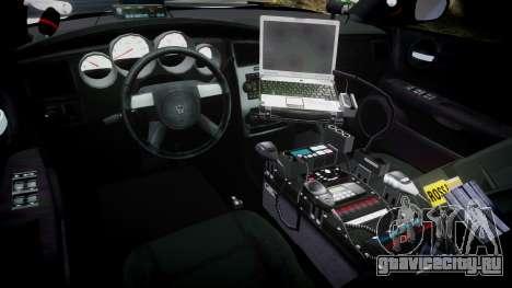 Dodge Charger 2010 PS Police [ELS] для GTA 4 вид сзади