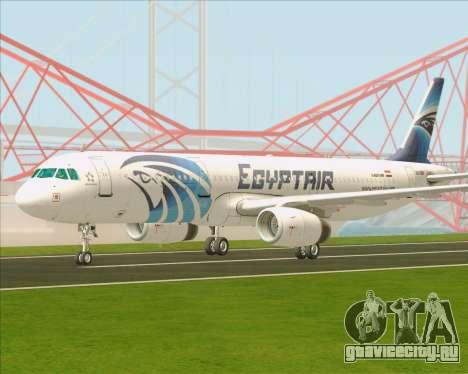 Airbus A321-200 EgyptAir для GTA San Andreas вид сзади слева