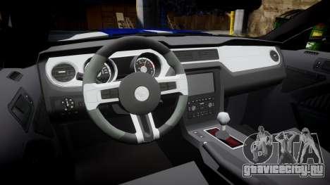 Ford Mustang GT 2014 Custom Kit PJ5 для GTA 4 вид изнутри