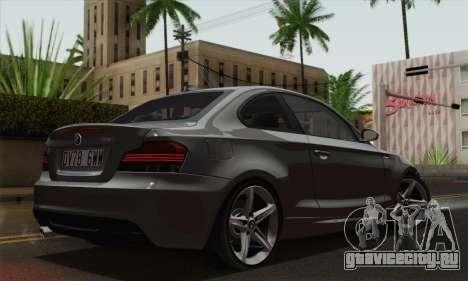 BMW 135i 2009 для GTA San Andreas вид слева