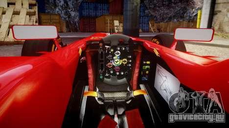 Ferrari F138 v2.0 [RIV] Alonso THD для GTA 4 вид изнутри