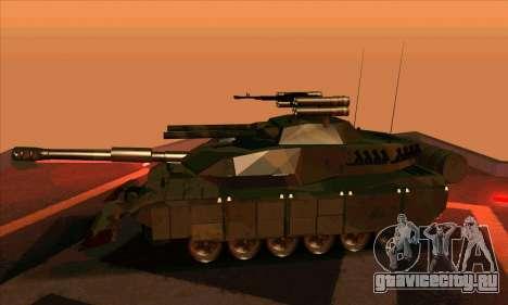 M1A1 Abrams Brawl (Transformers) для GTA San Andreas вид сзади слева