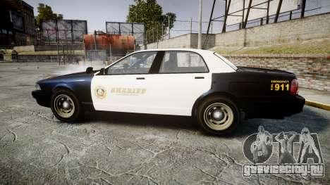 GTA V Vapid Cruiser LSS Black [ELS] Slicktop для GTA 4 вид слева