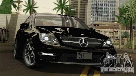 Mercedes-Benz C63 AMG Sedan 2012 для GTA San Andreas вид сверху